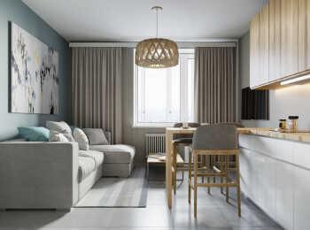 Гостиная, вариант отделки «Стокгольм»